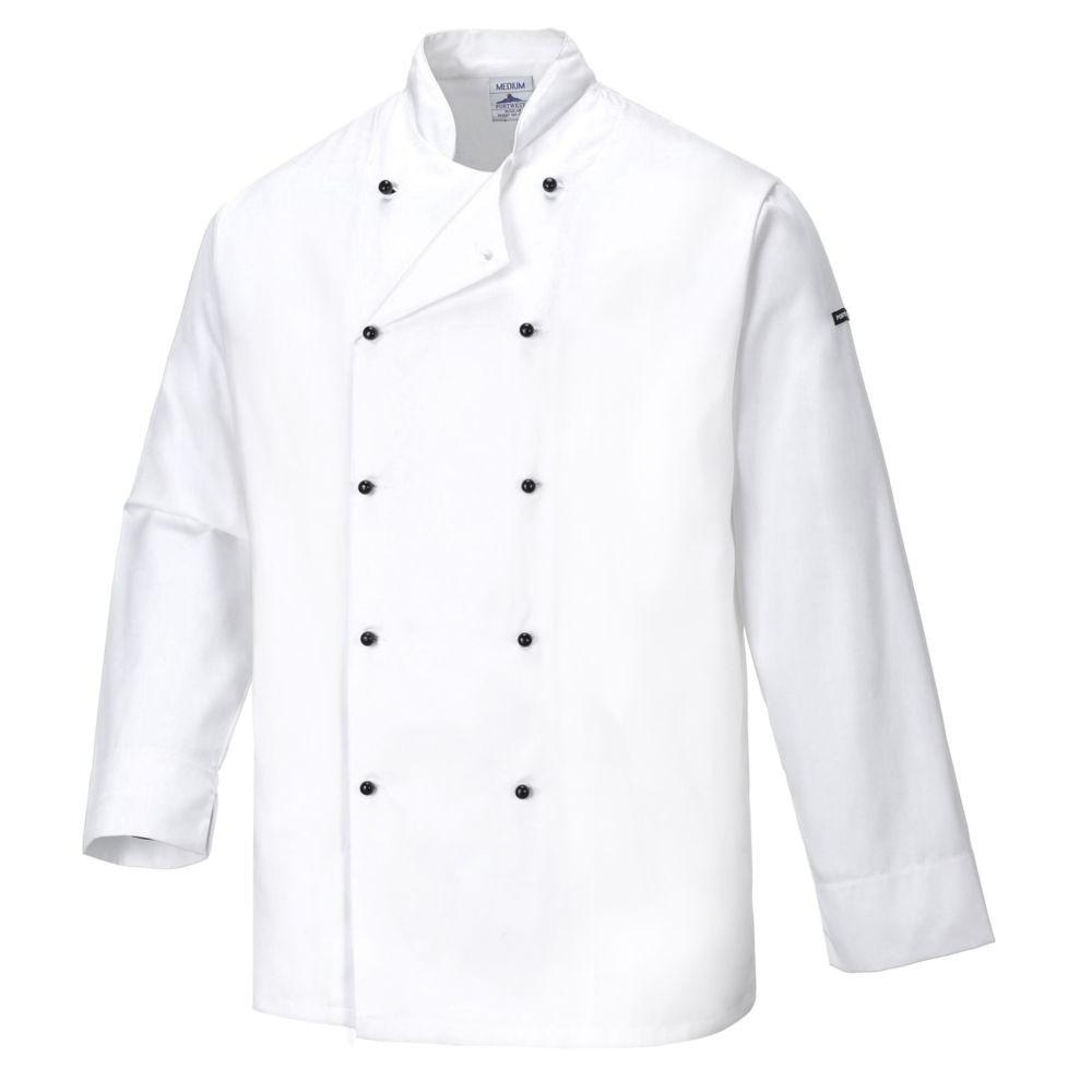 Veste de cuisine Portwest Cornwall Déperlant - Blanc