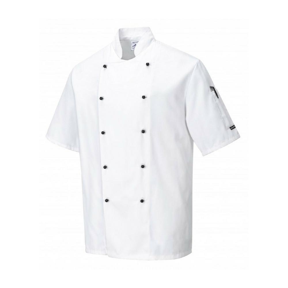 Veste de cuisine Portwest Kent - Blanc