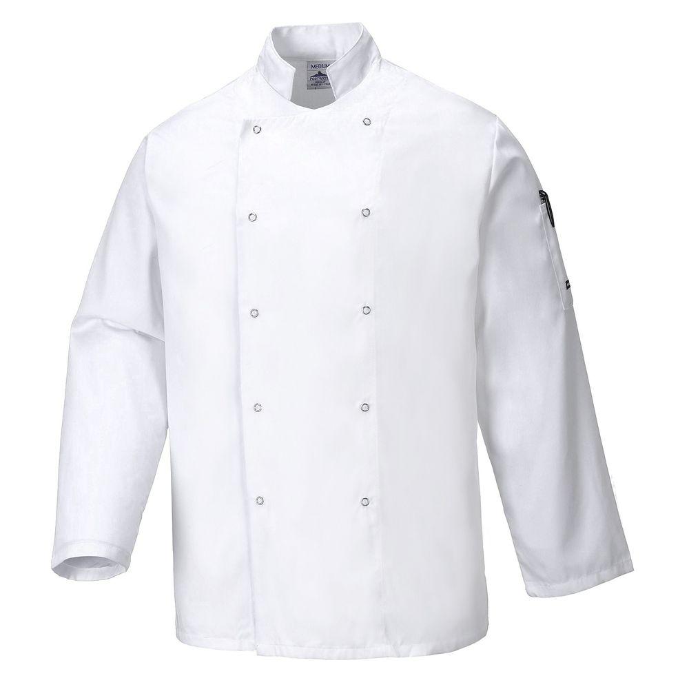 Veste de Cuisine Portwest Suffolk - Blanc