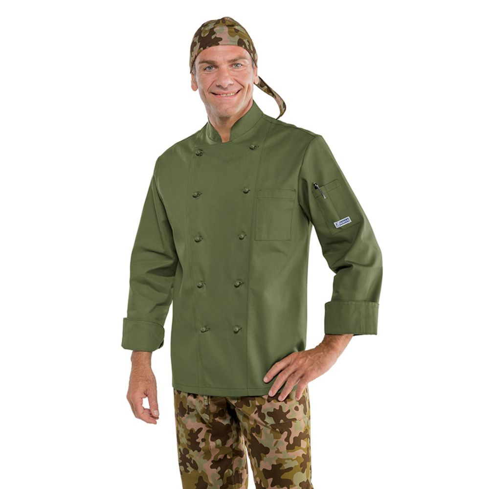 Veste de cuisine Vert Militaire Isacco - Vert Militaire