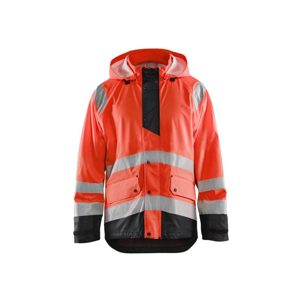Veste de pluie haute visibilité bicolore Blaklader NIVEAU 1 - Rouge / Noir