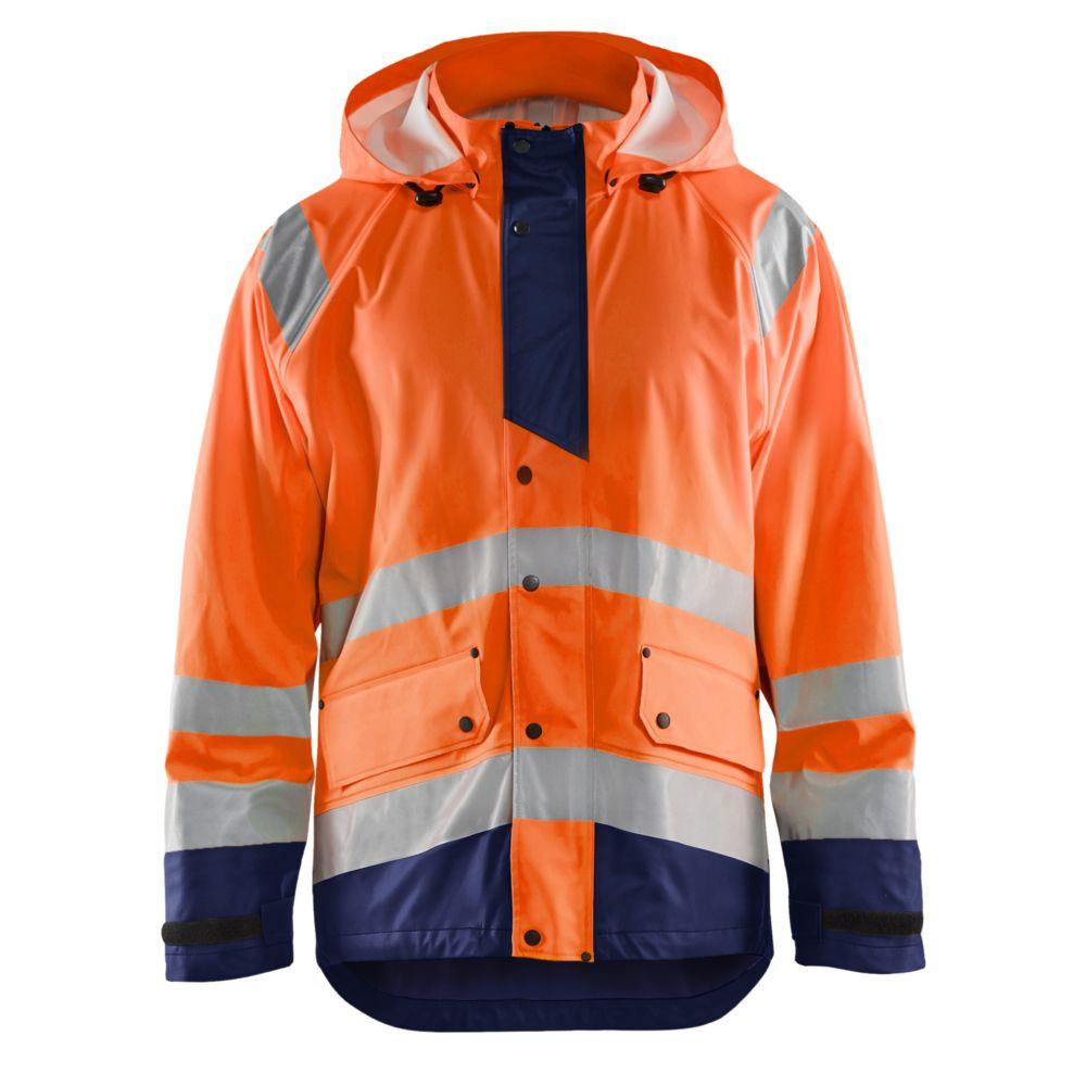 Veste de pluie haute visibilité Blaklader NIVEAU 3 - Orange / Marine