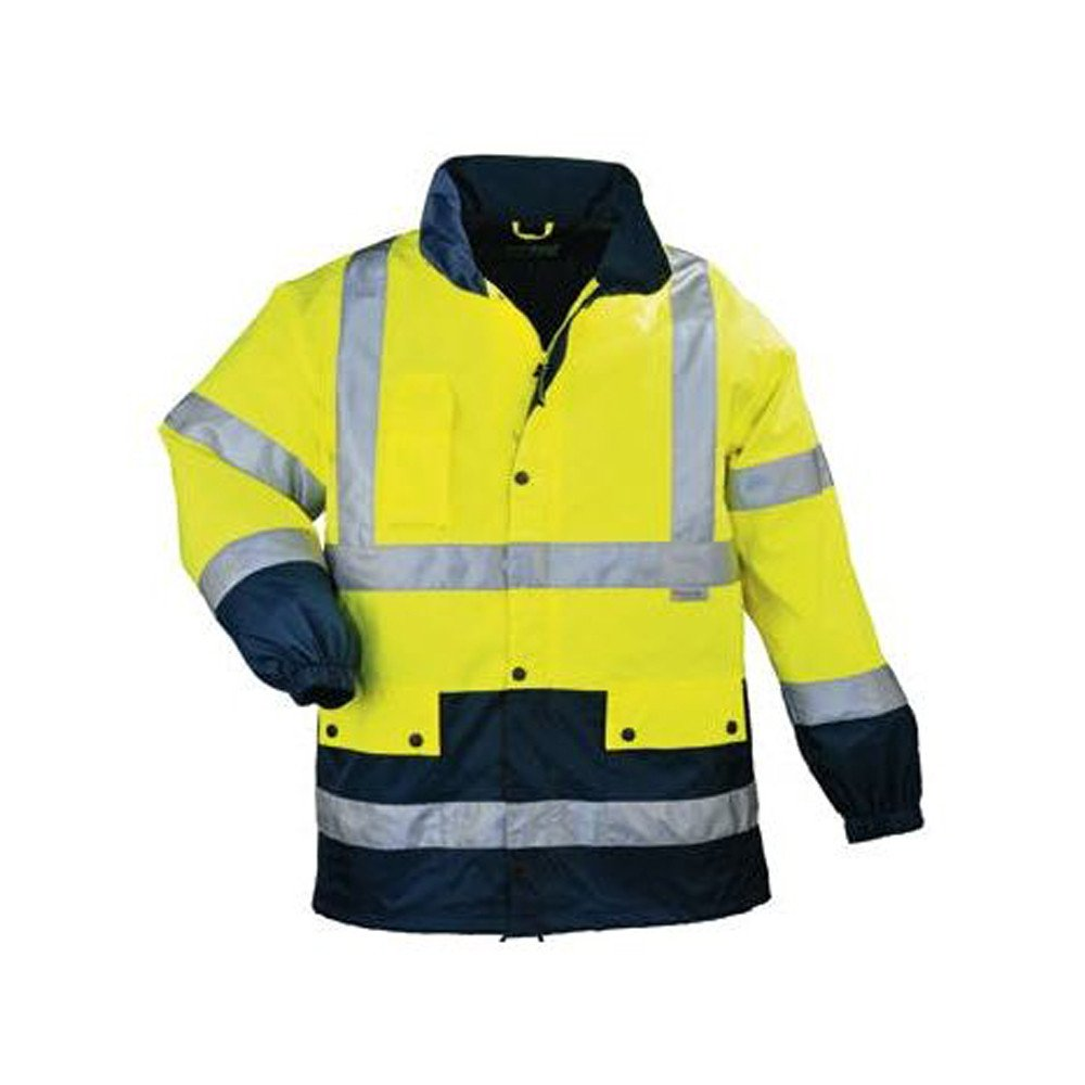 Veste de pluie haute visibilité Coverguard AIRPORT BREATHANE - Jaune / Marine