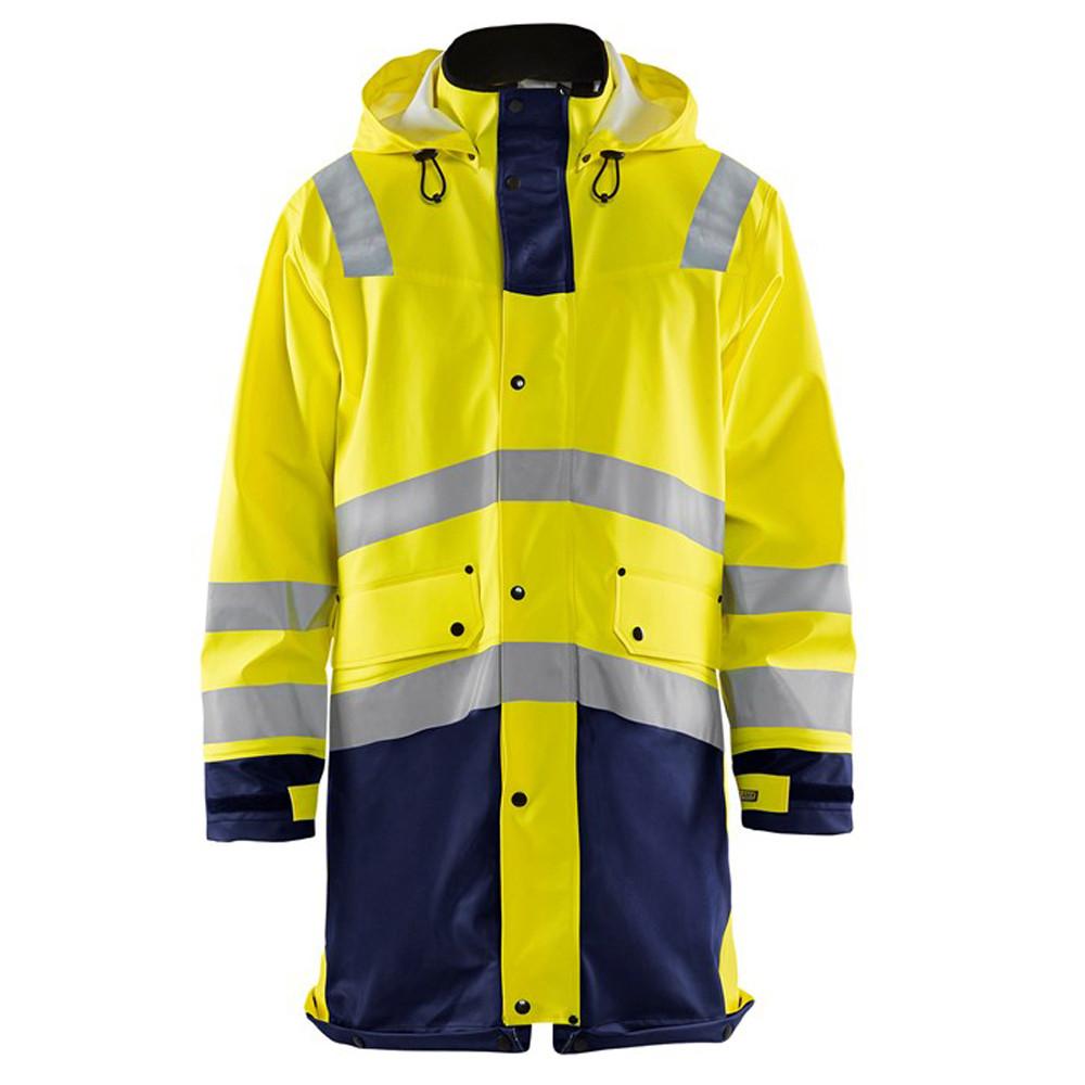 Veste de pluie Haute visibilité Blaklader étanche et coupe-vent - Jaune / Marine