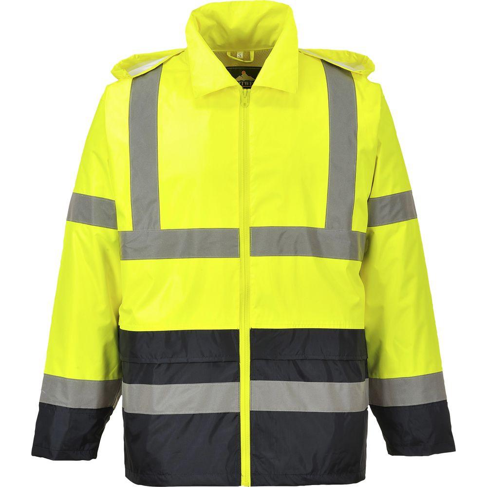 Veste de pluie haute visibilité Portwest bicolore - Jaune / Noir