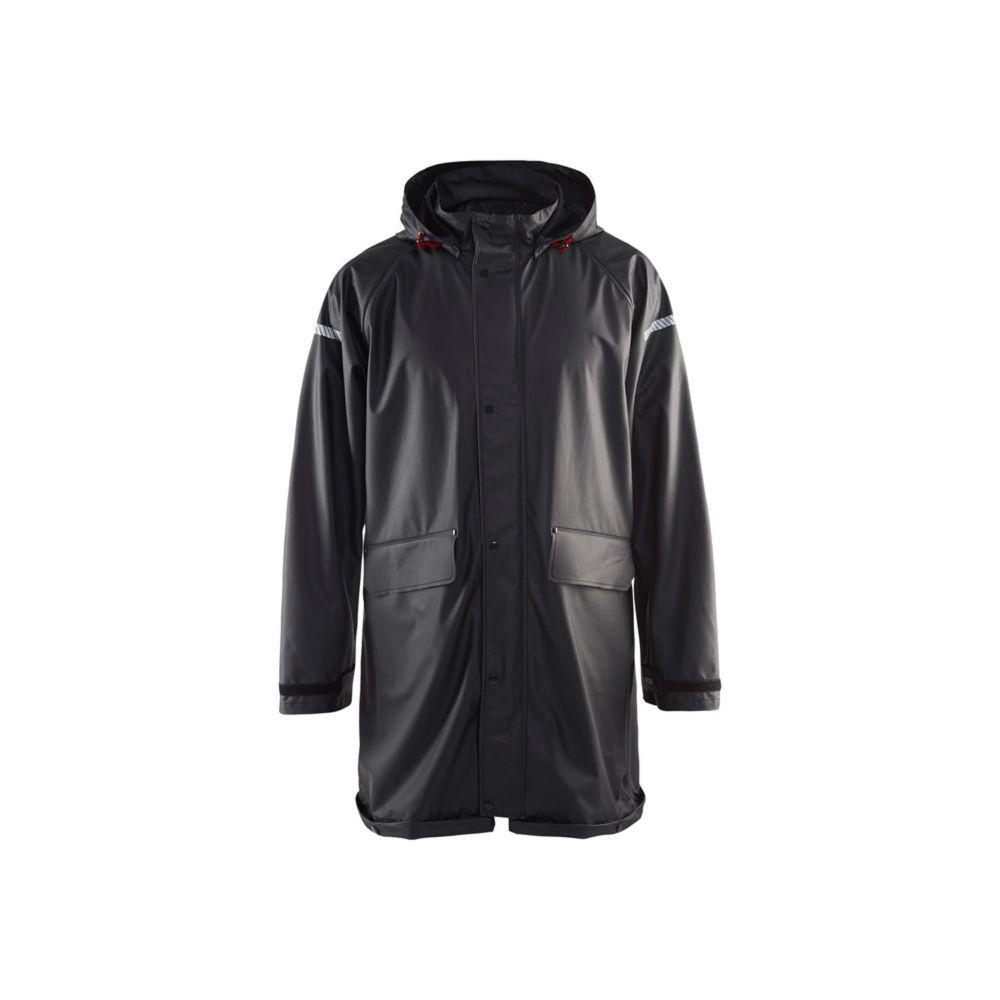 Veste de pluie imperméable Blaklader avec bandes réfléchissantes - Noir