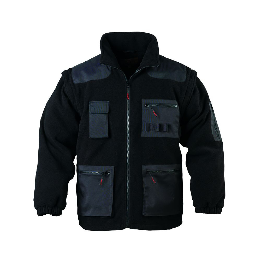 Veste de travail polaire manches amovibles Coverguard Artisan - noir