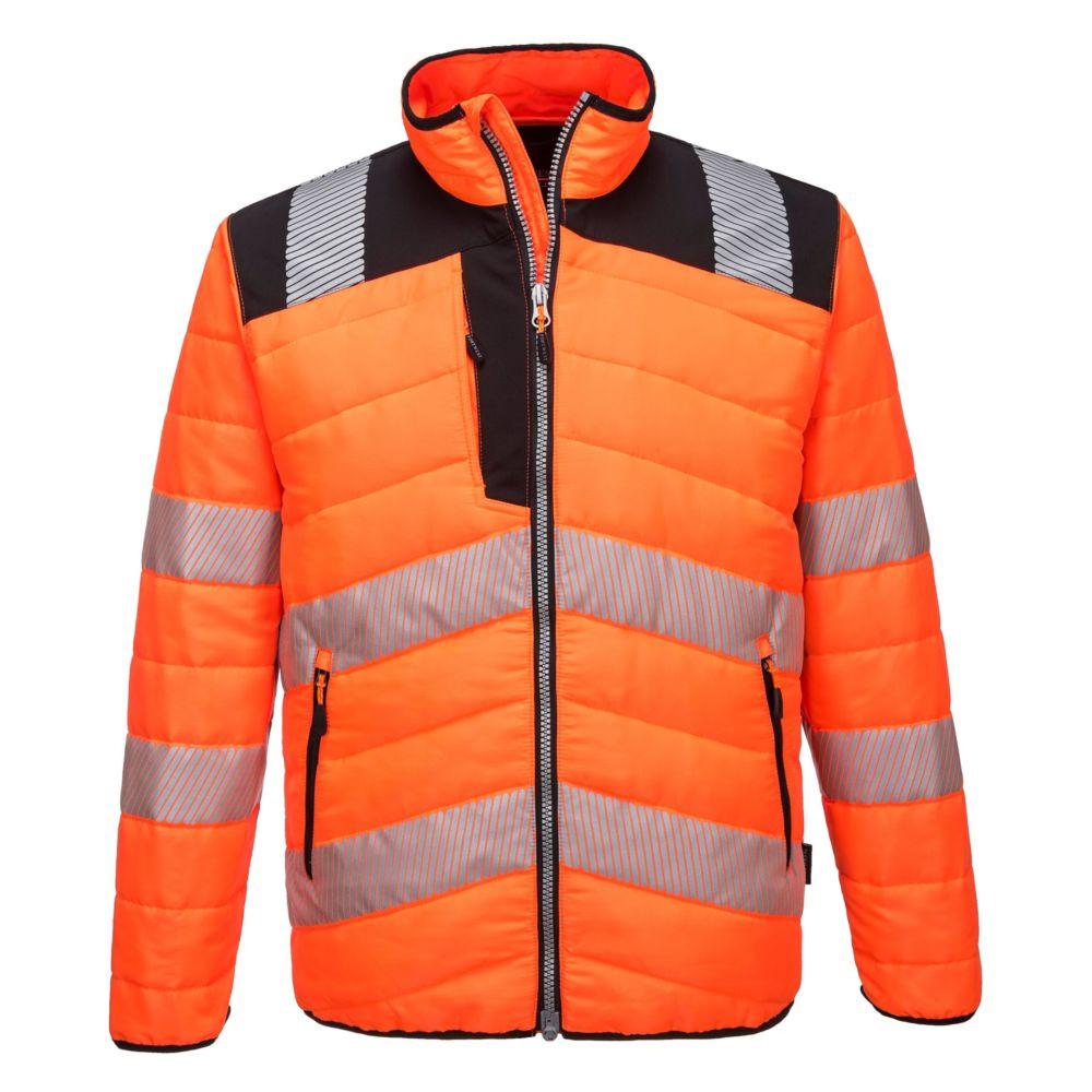Veste de travail haute visibilité Portwest BAFFLE - Orange / Noir