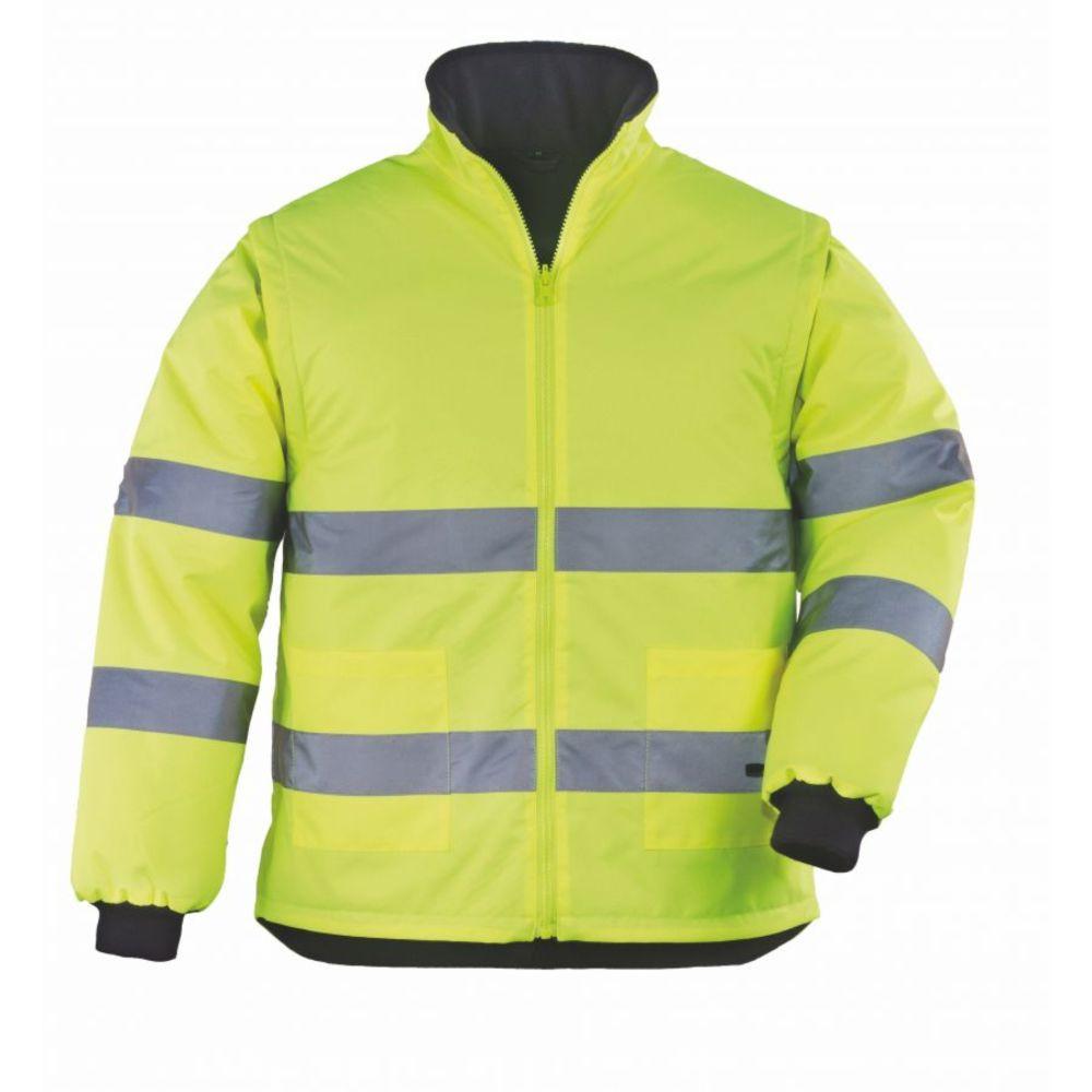 Veste haute visibilité 2 en 1 manches amovibles Coverguard ROADWAY - Jaune