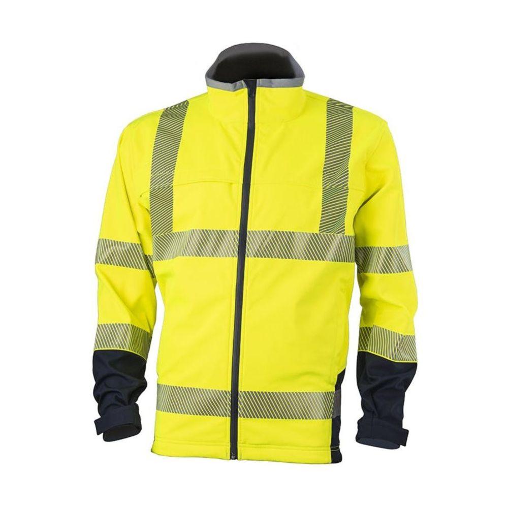 Veste softshell haute visibilité bicolore Coverguard Station Classe 3 - Jaune
