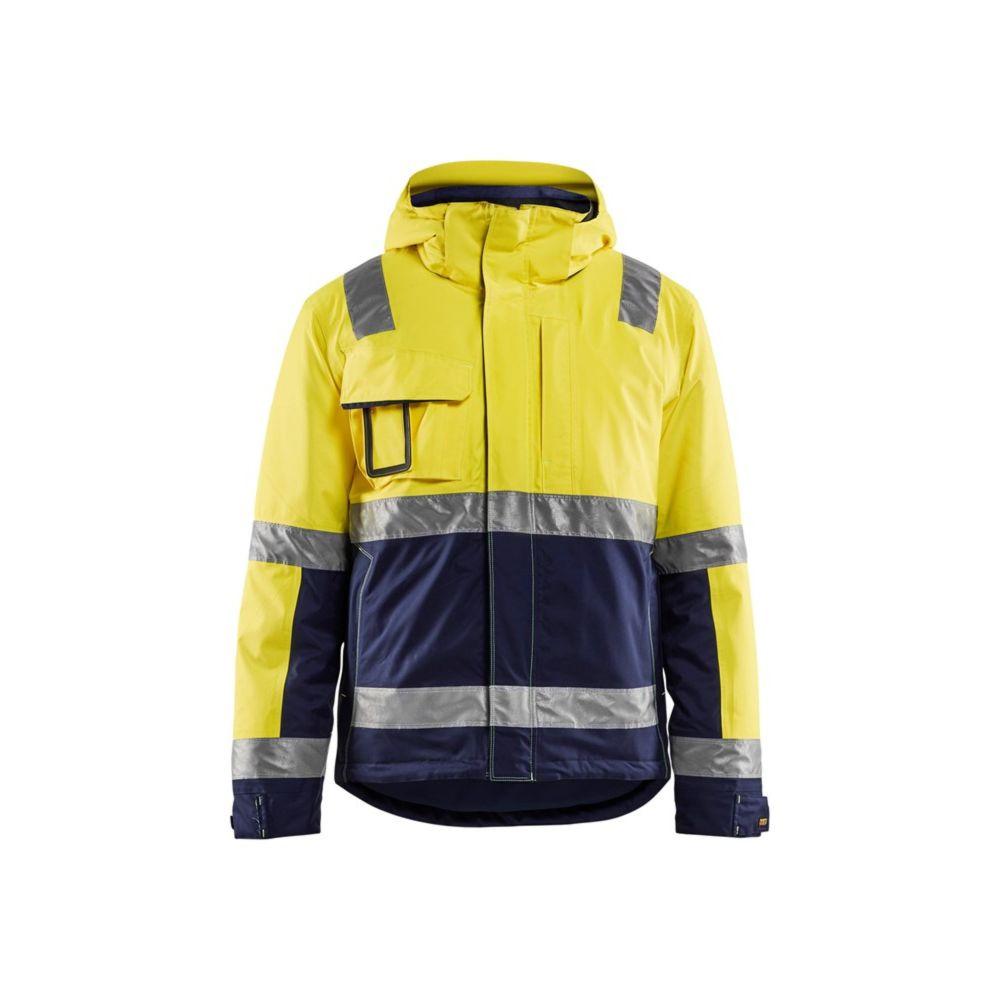 Veste haute visibilité hiver Blaklader Stretch - Jaune / Marine
