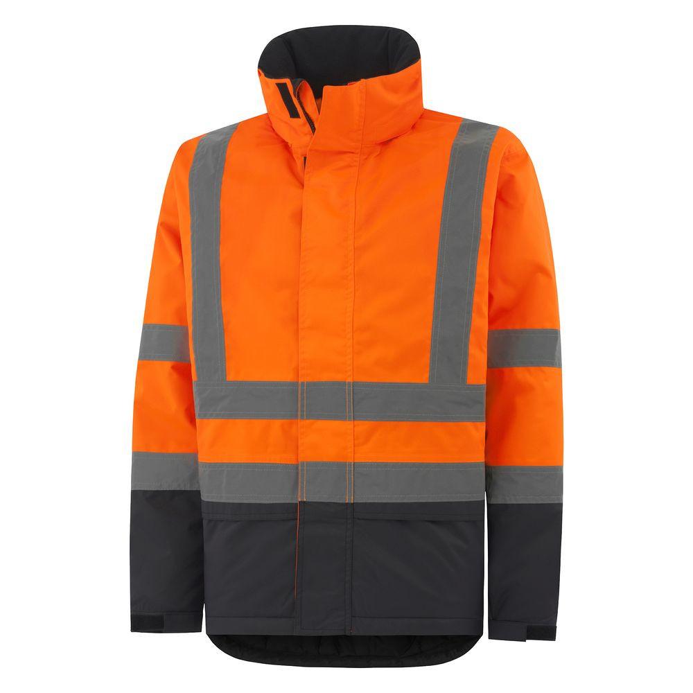 Veste haute visibilité imperméable Helly hansen ALTA INSULATED JKT - Orange / Charbon