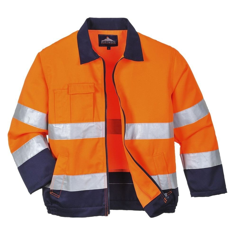 Veste haute visibilité Portwest Madrid Orange Marine 241d4c54b8f