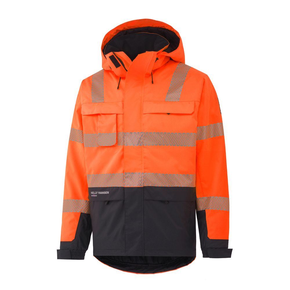 Veste haute visibilité YORK INSULATED Helly Hansen - Orange / charbon