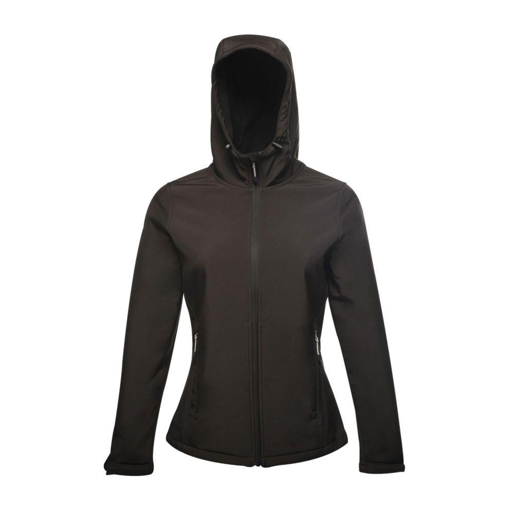 Veste imprimable à capuche Femme Softshell Regatta Great Outdoors Stand Out ARLEY II - Noir