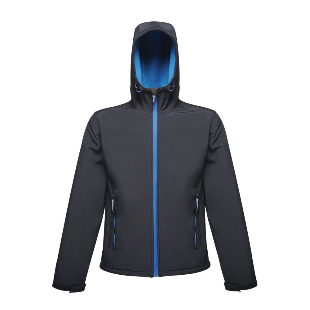 Veste imprimable à capuche Softshell Regatta Great Outdoors Stand Out ARLEY II - Marine / bleu