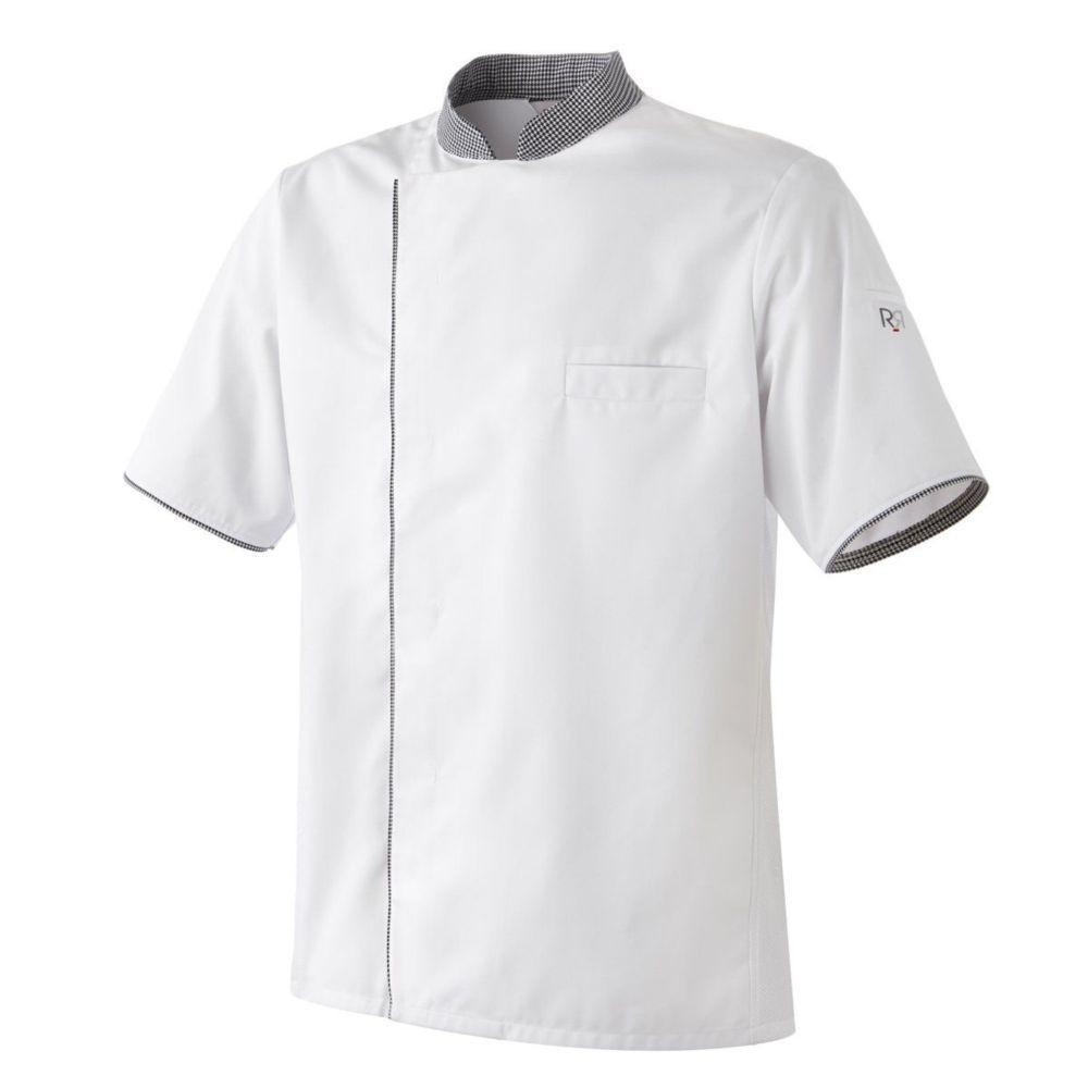Veste cuisine manches courtes motifs