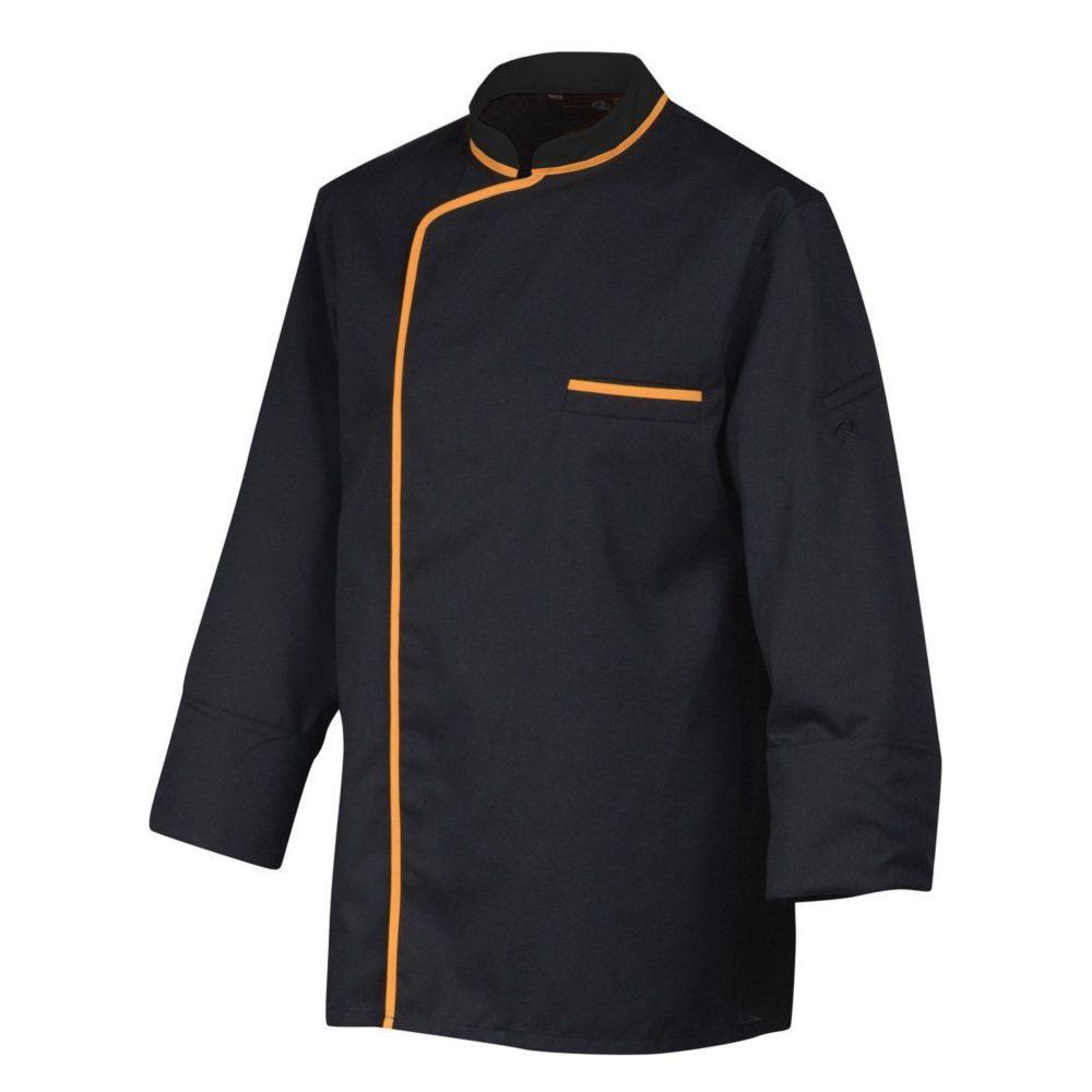 Veste de cuisine manches longues Robur SYNERGIE - Noir / Orange
