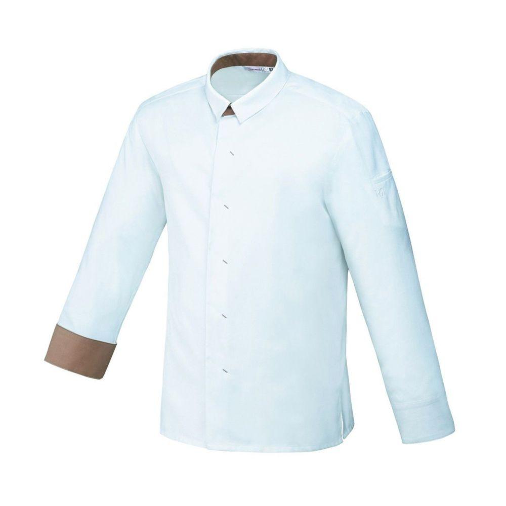 Veste de cuisine manches longues Robur VEGO - Beige / Blanc