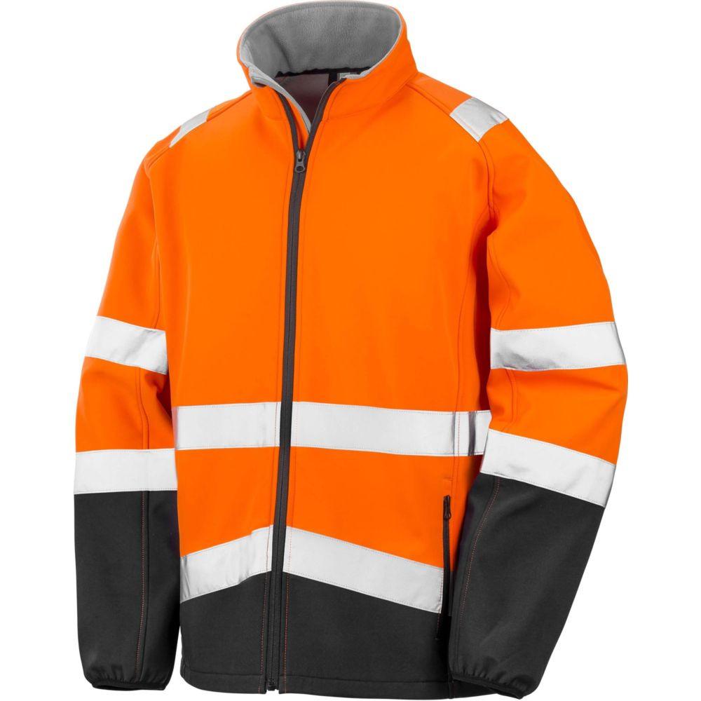 Veste haute visibilité Softshell Result HIGH VIZ - Orange Fluo