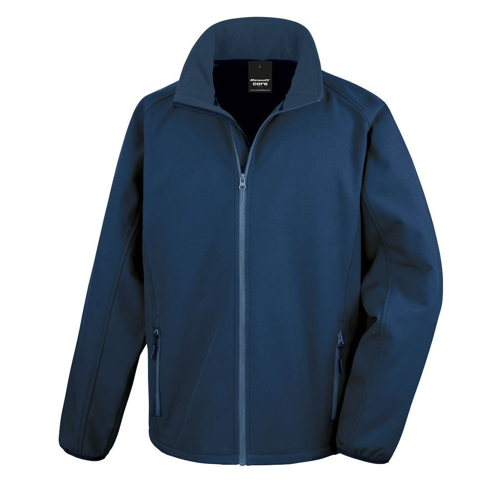 Veste Softshell Homme Result Core Printable - Bleu Marine