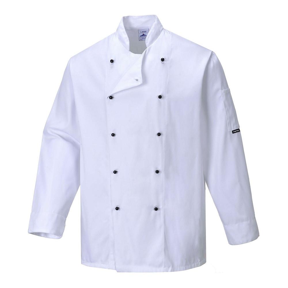 Veste de cuisine Portwest Somerset - Blanc