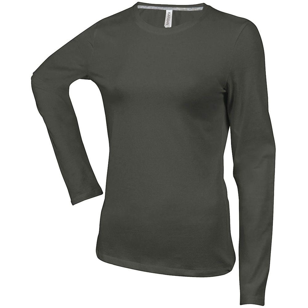 tee shirt col v manches longues kariban 100 coton. Black Bedroom Furniture Sets. Home Design Ideas