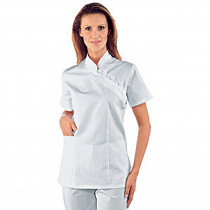 Tunique médicale blanche femme Isacco Saigon 100% coton