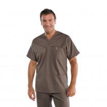 Tunique médicale unisexe Isacco marron Fango
