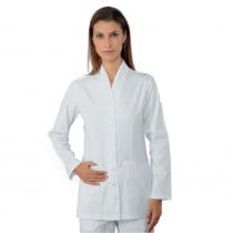 Blouse médicale blanche femme Isacco Calgary manches longues