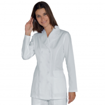 Blouse blanche médicale femme Isacco Doppio Manches longues