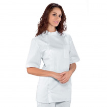 Blouse blanche dentiste unisexe Isacco manches courtes