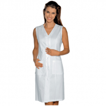Blouse blanche sans manches femme Isacco Taormina 100% coton