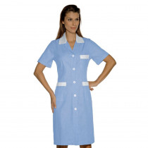 Blouse médicale femme Isacco Positano Bleu rayures blanches manches...