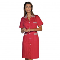 Blouse femme Isacco Positano Rouge manches courtes