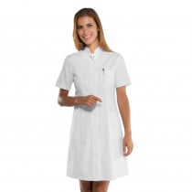 Blouse blanche médicale femme Isacco Camice Catalina manches courtes