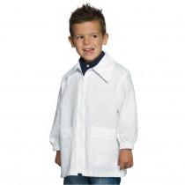 Blouse enfant zippée Isacco blanche 3 à 6ans