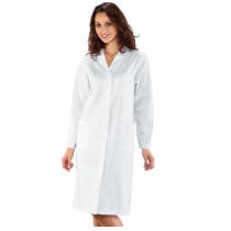 Blouse blanche chimie femme Isacco Amburgo 100% coton