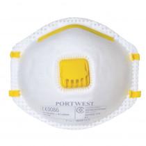 Masque respiratoire à valve Portwest FFP1 NR (boite de 10 masques)