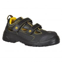 Sandales de sécurité 100% non métallique Portwest composite ESD S1P - Noir