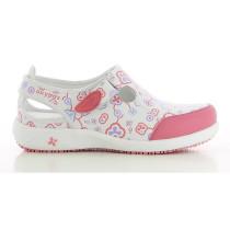 Chaussure de travail Oxypas Lilia rose blanc