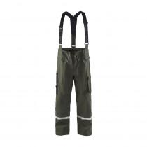 Pantalon de pluie à bretelles Blaklader Vert armée face