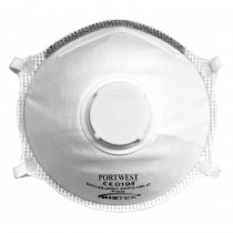 10 masques jetables FFP3 à valve Dolomite coque de respiration légère Portwest