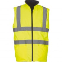 Bodywarmer réversible haute visibilité Yoko jaune