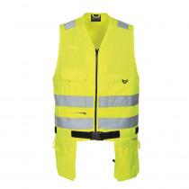 Gilet jaune haute visibilité multipoches Portwest Xenon
