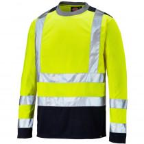 T-shirt de travail manches longues haute visibilité Dickies Two Ton...
