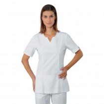 Tunique femme médical blanche Isacco Tiffany 100% coton