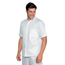 Veste de travail homme cuisine/médical blanche Isacco 100% coton ma...