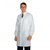 Blouse médicale sans poches poignets élastiqués Isacco homme 100% c...