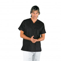 Tunique médicale unisexe Isacco Noire